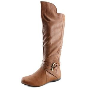Fergalicious Rodeo Zip Buckle Knee High Boots, 8.5